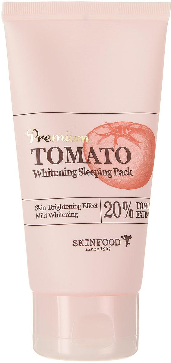Skinfood Premium Tomato Осветляющая ночная маска с экстрактом томата, 100 млУТ-00000271Осветляющая ночная маска с экстрактом томата (20%) позволит избавиться от нежелательной пигментации, выровнять тон кожи и ее структуру. Эффективный комплекс из специальных осветляющих компонентов устраняет следы пост-акне, ускоряет регенерацию, увлажняет, предотвращает потерю влаги, возвращает коже свежесть и здоровое сияние.