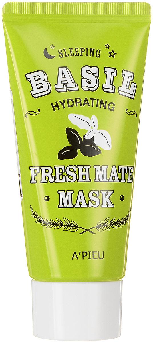 APieu Fresh Mate Ночная маска с экстрактом базилика и баобаба, 50 млУТ-00000215Экстраувлажняющая и освежающая ночная маска с экстрактом базилика и баобаба улучшает цвет кожи, придает ей здоровый красивый тон, повышает эластичность. Экстракт базилика в составе маски увлажняет, выводит токсины из кожи, тонизирует кожу и разглаживает мелкие морщинки, восстанавливает нарушенный липидный барьер кожи, повышает эластичность кожи, помогает разгладить мимические морщины. Экстракт баобаба восстанавливает эластичность и упругость кожи, увлажняет и питает ее.