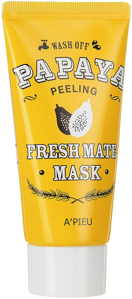 APieu Fresh Mate Маска-пиллинг с экстрактом папайи, 50 млУТ-00000216Маска-пилинг с папайей эффективно и мягко очистит кожу от омертвевших клеток эпидермиса, устранит тусклый цвет лица, подарит яркость и сияние уставшей коже. Маска эффективно отшелушивает ороговевшие клетки, питает кожу и способствует ее обновлению. Обладает мощными питательными и увлажняющими свойствами, повышает эластичность и упругость кожи.