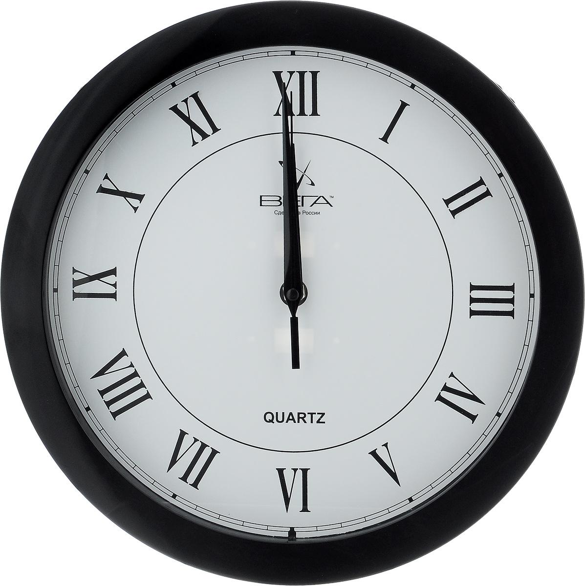 Часы настенные Вега Римская классика, цвет: черныйП1-6/6-47