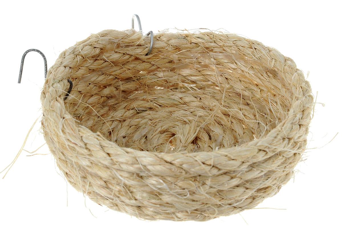 Гнездо для птиц Zoobaloo Гнездо плоское, диаметр 10 см564Zoobaloo Гнездо плоское – это великолепный аксессуар, который предназначен для птиц. Благодаря полностью натуральному плетению изделие выгодно отличается от гнезд из пластика. Гнездо оснащено металлическими креплениями, поэтому может быть установлено на горизонтальных стенках клетки. Диаметр гнезда: 10 см. Высота стенки гнезда: 3 см.