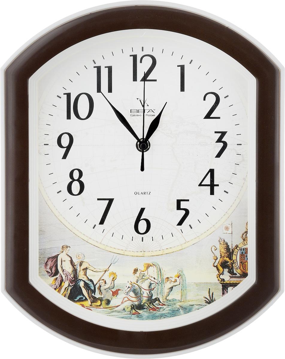 Часы настенные Вега Дружина, 34,5 х 27 х 4,5 смП2-9/7-12Настенные кварцевые часы Вега Дружина, изготовленные из пластика, прекрасно впишутся в интерьер вашего дома. Часы имеют три стрелки: часовую, минутную и секундную, циферблат защищен прозрачным стеклом. Часы работают от 1 батарейки типа АА напряжением 1,5 В (не входит в комплект).