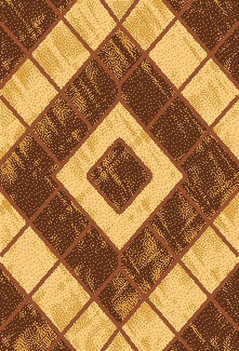 Ковер ART Carpets Триа, цвет: золотой, 80 х 150 см. 203420130212182528203420130212182528Ворс 100% полиэстер, букле