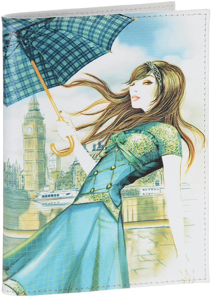 Обложка для паспорта женская Perfecto Лондон, цвет: белый, голубой, бежевый. PS-GL-103PS-GL-103Женская обложка для паспорта Perfecto Лондон, выполненная из натуральной кожи, оформлена авторским рисунком. Внутри расположены боковые прозрачные карманы из ПВХ для фиксации паспорта. Такая обложка не только поможет сохранить внешний вид ваших документов, но и станет стильным аксессуаром, идеально подходящим вашему образу. Характеристики: Материал: натуральная кожа. Размер: 9,5 см х 13,5 см. Артикул: PS-GL-103. Производитель: Россия.