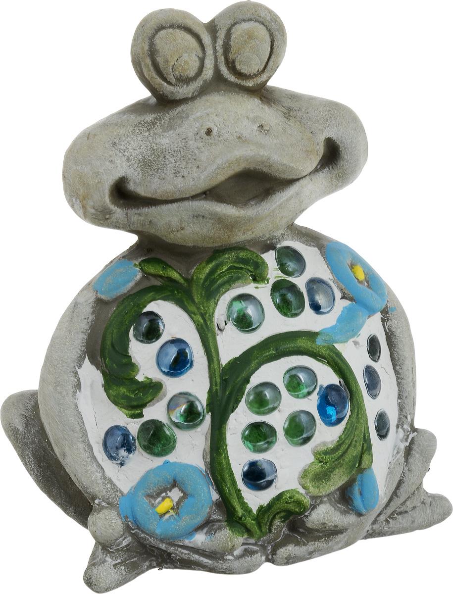 """Фигурка декоративная Лилло """"Лягушка"""", цвет: серый, зеленый, белый, высота 19 см"""
