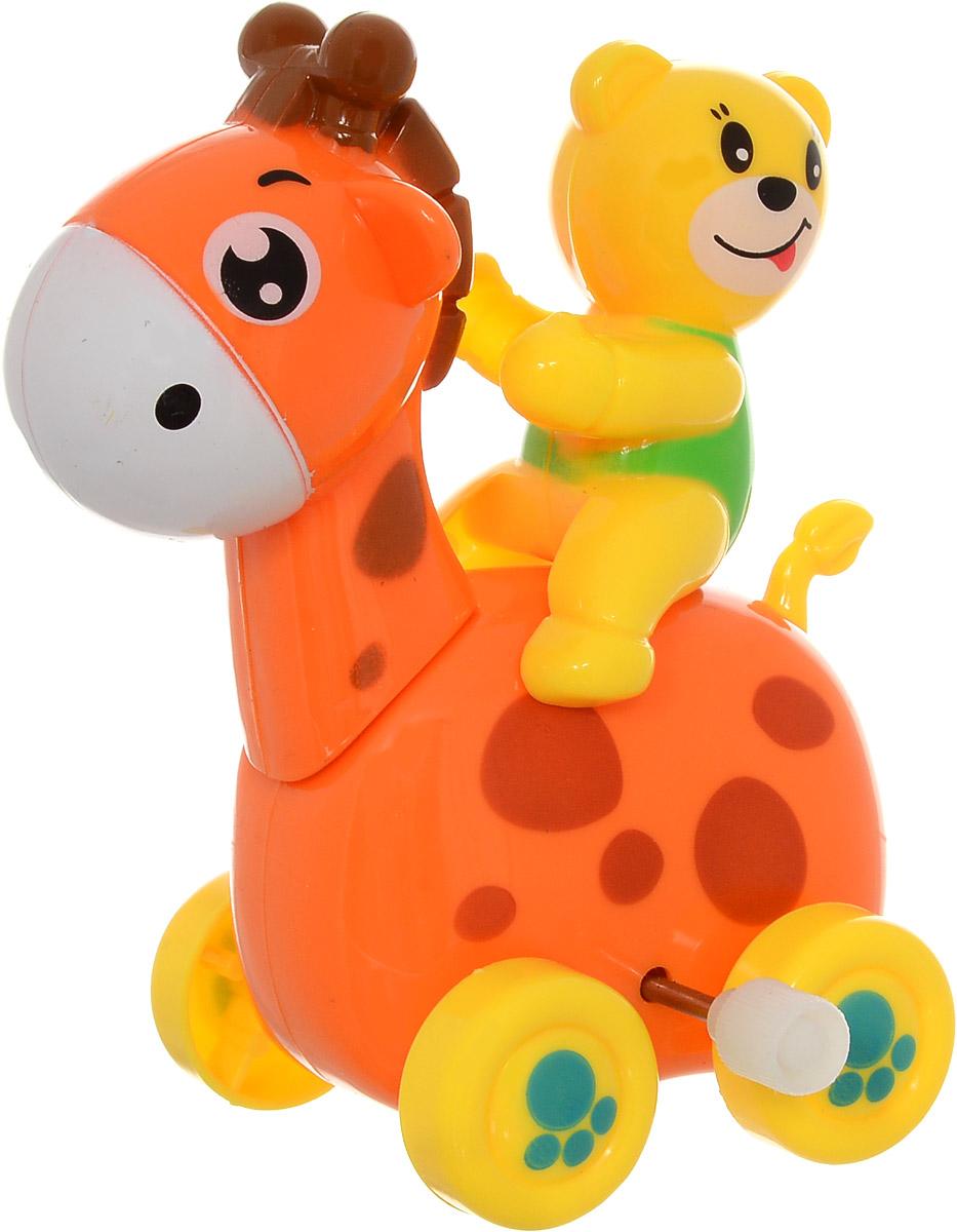 Huile Toys Заводная игрушка Жираф с медведем559_оранжевый, желтыйЗаводная игрушка Huile Toys Жираф с медведем привлечет внимание вашего малыша и не позволит ему скучать! Игрушка выполнена из безопасного материала с использованием пищевых красителей, имеет заводной механизм. Для запуска игрушки поверните заводной ключ по часовой стрелке до упора. Заводная игрушка поможет ребенку в развитии воображения, мелкой моторики рук, концентрации внимания и цветового восприятия.