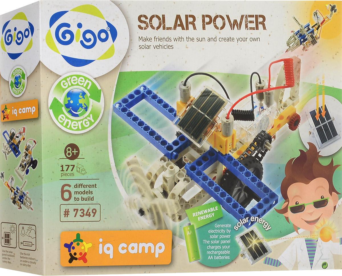 Gigo Конструктор Solar Power 6 в 17349Конструктор Gigo Solar Power - это конструктор, сооружения которого работают от энергии солнца. Набор включает в себя 177 деталей из металла и пластика, с помощью которых можно собрать 6 разных моделей техники. В инструкции пользователя, кроме пошаговых схем сборки, содержится информация о превращении энергии света в электрическую. Конструктор Gigo Solar Power поможет ребенку развить мелкую моторику рук, координацию движений и усидчивость. Для работы конструкций необходима 1 батарейка типа АА напряжением 1,5V и 1 Ni-MH аккумулятор типа АА напряжением 1,2V (не входят в комплект).
