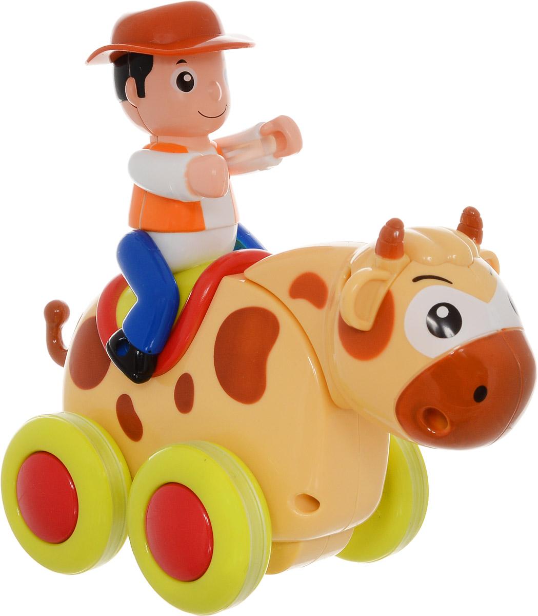 Huile Toys Машинка-игрушка Brave Bull366_Brave BullМашинка-игрушка Huile Toys Brave Bull привлечет внимание вашего малыша и не позволит ему скучать! Выполненная из безопасного пластика с элементами из металла, игрушка представляет собой забавную машинку в виде быка с наездником. Во время движения бык покачивает головой, руки наездника подвижны. Игрушка поможет ребенку в развитии воображения, мелкой моторики рук и цветового восприятия.