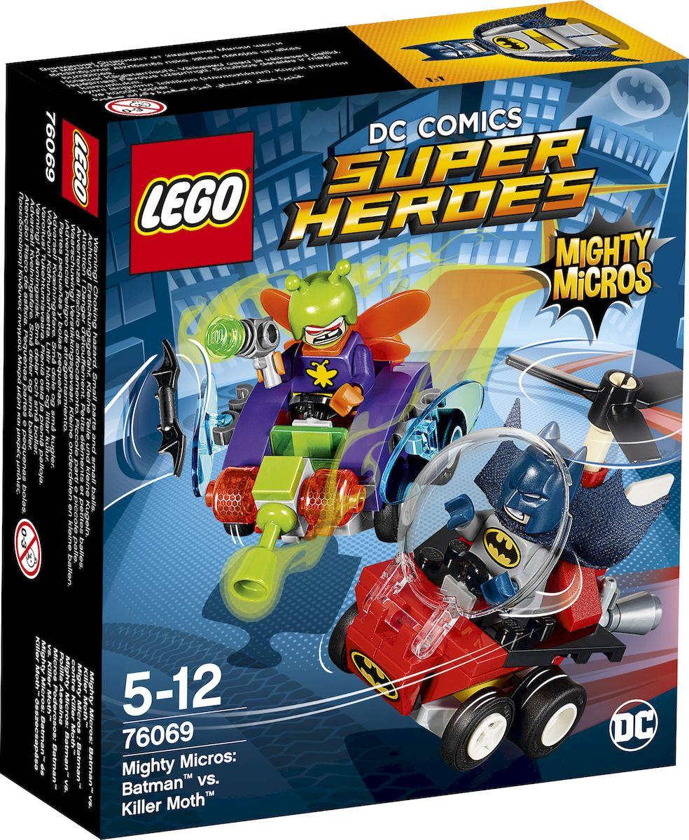 LEGO Super Heroes Конструктор Mighty Micros Бэтмен против Мотылька-убийцы 7606976069Стремительно неситесь на Бэткоптере, чтобы сбить Мотылька-убийцу! Запустите Бэтаранг Бэтмена, прицелившись в крылья летающего жука, и одержите верх над суперзлодеем! Но будьте осторожны, опасайтесь ружья, стреляющего паутиной! Одержит ли Темный Рыцарь победу? Исход этой захватывающей супергеройской битвы зависит от вас! Набор включает в себя 83 разноцветных пластиковых элемента. Конструктор - это один из самых увлекательных и веселых способов времяпрепровождения. Ребенок сможет часами играть с конструктором, придумывая различные ситуации и истории.