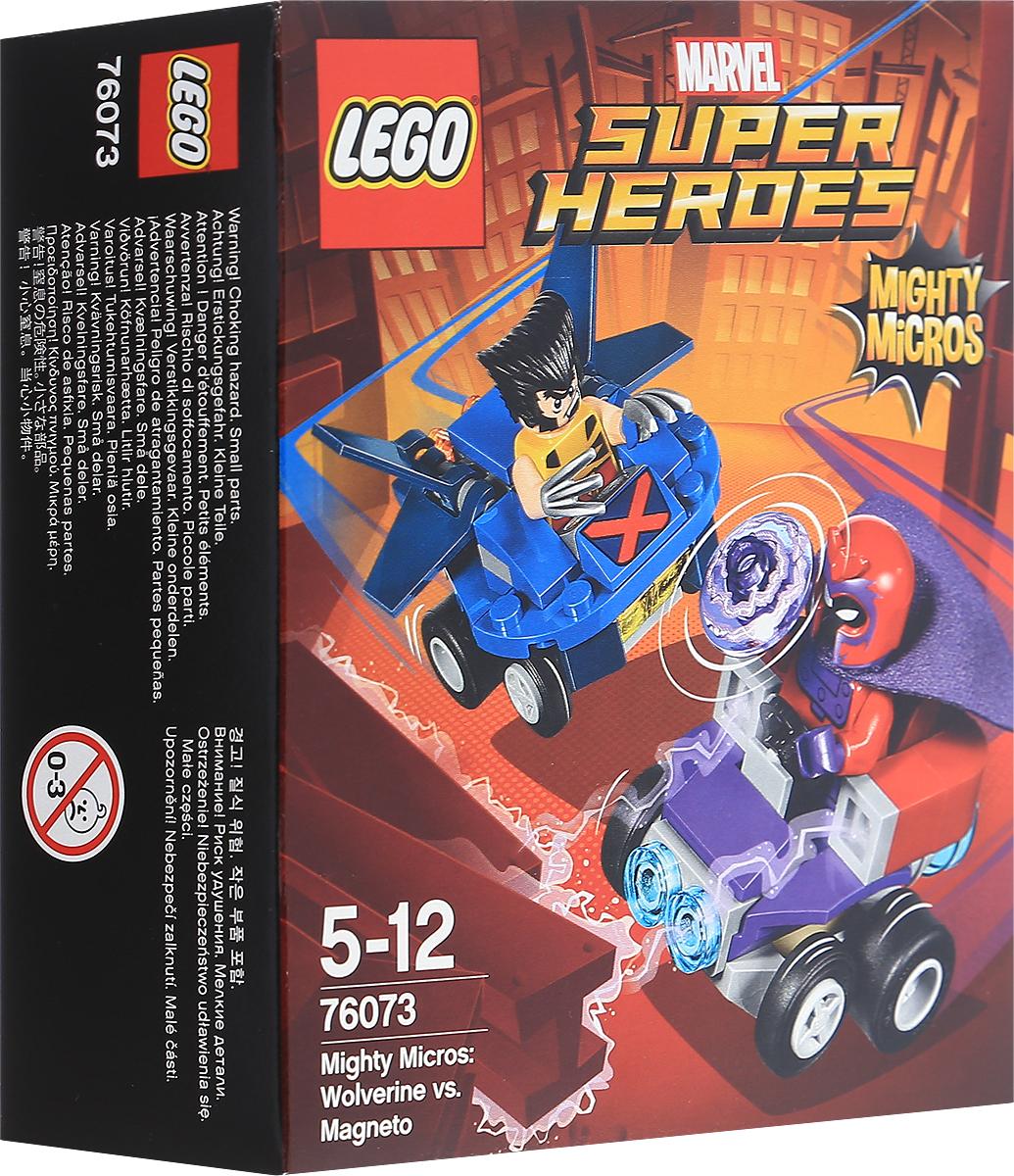 LEGO Super Heroes Конструктор Mighty Micros Росомаха против Магнето 7607376073Станьте свидетелем динамичной схватки Людей Икс: Росомаха против Магнето. Росомаха рвется в бой на своем летательном аппарате! Главное уворачиваться от гигантского магнита Магнето! Но им придется сразиться врукопашную: когти Росомахи и электромагнитные импульсы Магнето. Что окажется сильнее? Набор включает в себя 85 разноцветных пластиковых элементов. Конструктор станет замечательным сюрпризом вашему ребенку, который будет способствовать развитию мелкой моторики рук, внимательности, усидчивости и мышления.
