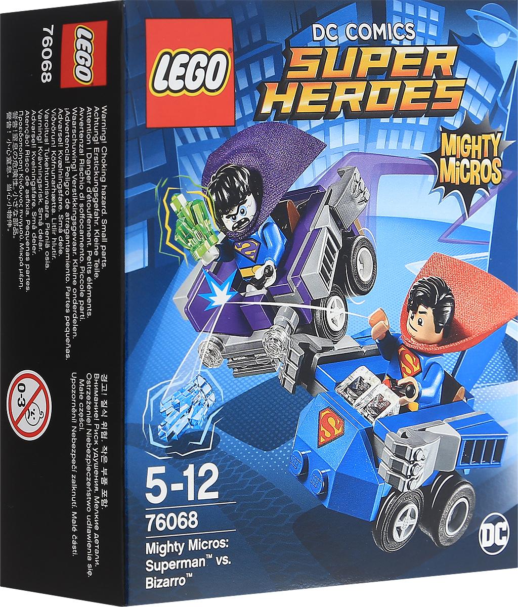 LEGO Super Heroes Конструктор Mighty Micros Супермен против Бизарро 7606876068Бросайтесь в погоню и поймайте Бизарро, если сможете! Кто знает, куда направится заклятый враг Супермена в своем автомобиле, построенном задом наперед! Используйте голубой Криптонит, чтобы лишить Бизарро сил, но остерегайтесь зеленого Криптонита! Сойдитесь в бою лицом к лицу, чтобы выяснить, кому суждено стать победителем! Набор включает в себя 93 разноцветных пластиковых элемента. Конструктор - это один из самых увлекательных и веселых способов времяпрепровождения. Ребенок сможет часами играть с конструктором, придумывая различные ситуации и истории.