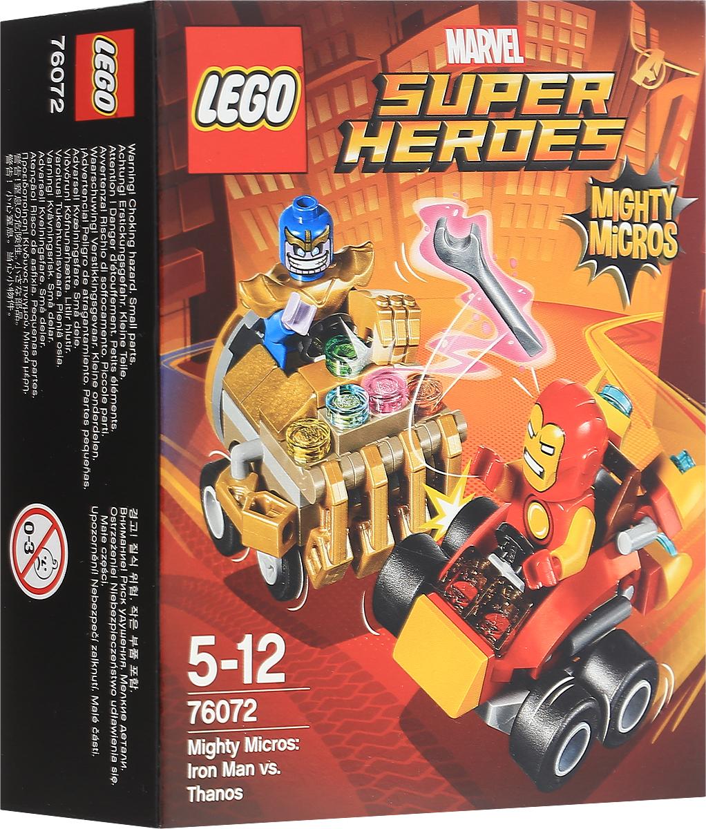 LEGO Super Heroes Конструктор Mighty Micros Железный человек против Таноса 7607276072Направьте суперскоростной автомобиль Железного человека с ракетным двигателем в сторону Таноса и разорвите его машину на две части клешней-тисками! Сразите Таноса прежде, чем он успеет воспользоваться суперсилой своей Перчатки неуязвимости и станет победителем в этом поединке. Набор включает в себя 94 разноцветных пластиковых элемента. Конструктор - это один из самых увлекательных и веселых способов времяпрепровождения. Ребенок сможет часами играть с конструктором, придумывая различные ситуации и истории.