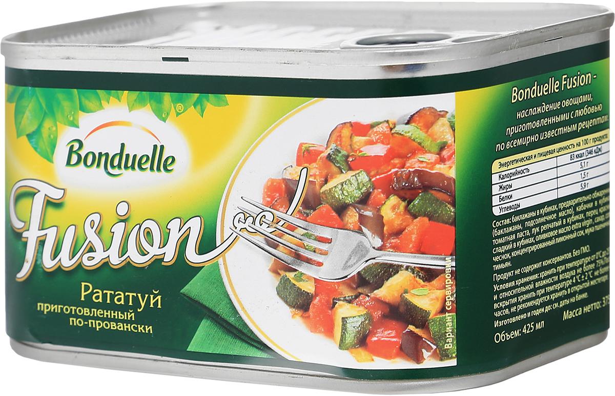 Bonduelle рататуй по-провански, 375 г4753Рататуй, который приготовлен по всем канонам: самые красивые овощи, качественное оливковое масло и идеально выверенное время приготовления для каждого овоща. Баклажаны, кабачки, перец, томаты и лук - все ингредиенты сохранили максимум вкуса, и ни один из них не пережарен. Подавайте рататуй с мясом, пастой или кускусом - и кулинарное блаженство не заставит себя ждать. Уважаемые клиенты! Обращаем ваше внимание, что полный перечень состава продукта представлен на дополнительном изображении.