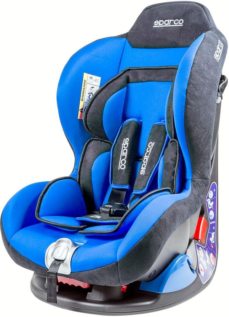 Sparco Автокресло F 500K от 0 до 18 кг цвет черный синийF5000K-BLАвтокресло группы 0+/1 Sparco (F 500K) рассчитано на детей весом от 0 до 18 кг. Конструкция кресла позволяет устанавливать его на любые автомобильные сиденья, пристёгивая с помощью штатного ремня безопасности. Предусмотрен пятиточечный ремень безопасности, бережно фиксирующий ребёнка в кресле. Среди достоинств: объёмная мягкая защита кресла и ортопедический вкладыш, который снимает нагрузку с позвоночника ребёнка.