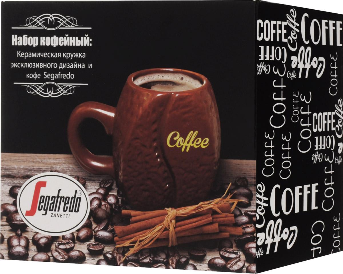 Segafredo Набор № 3 Buono кофе молотый, 250 г + керамическая кружка, 340 мл 10081-00