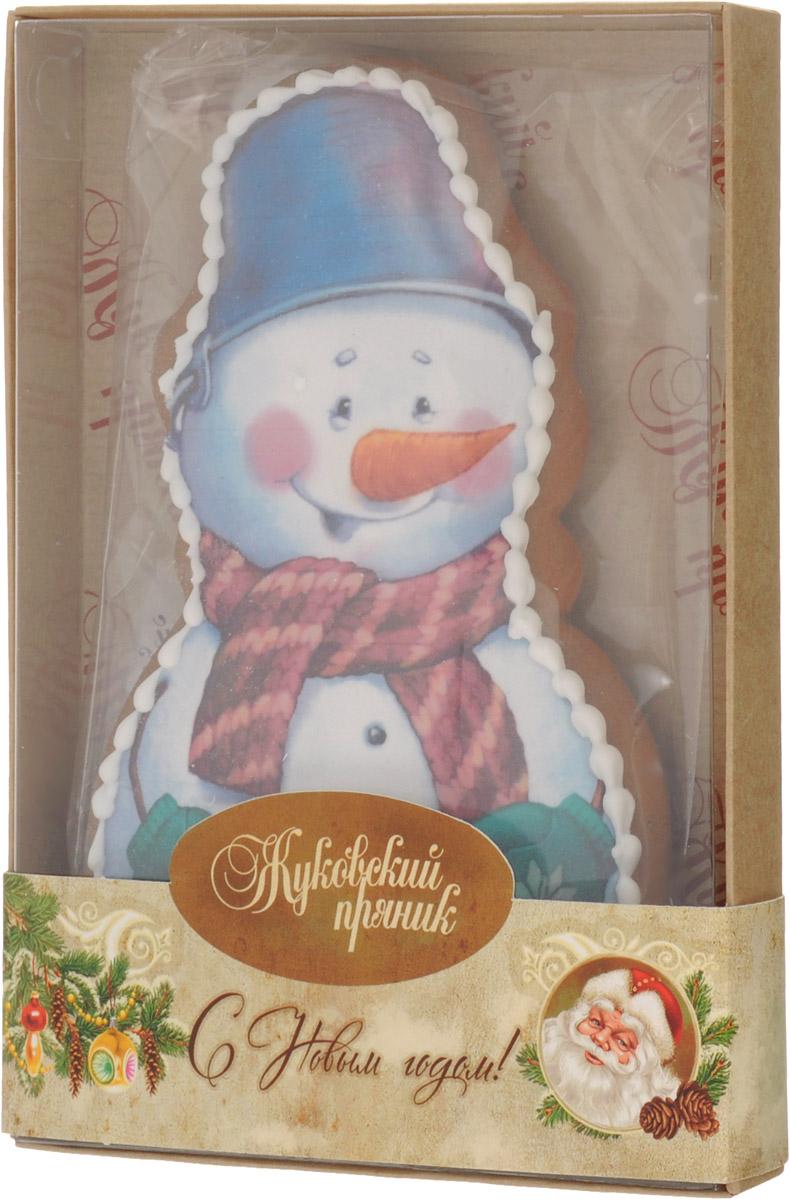 Жуковский пряник Снеговик, 100 г00-00001315Медово-имбирный пряник Снеговик с росписью из айсинга, фотопечатью на сахарной бумаге. Прекрасно подойдет в качестве подарка на Новый год. Уважаемые клиенты! Обращаем ваше внимание, что полный перечень состава продукта представлен на дополнительном изображении.
