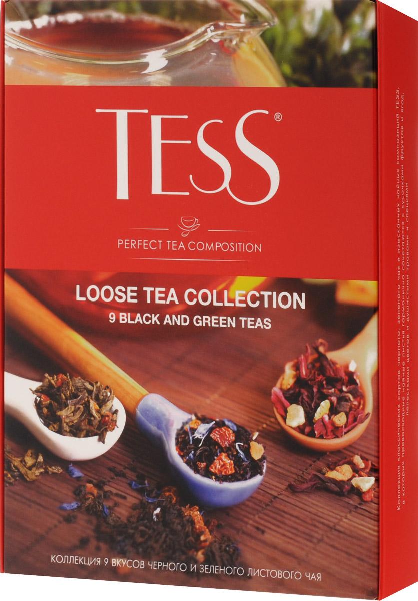 Tess Коллекция листового чая 9 видов, 350 г1183-12Ценность чая определяется многими обстоятельствами - местом и временем сбора чайного листа, особенностями его обработки и свежестью, оригинальностью и полнотой природного вкусового букета. В коллекции листового чая Tess вы найдете классические сорта черного и зеленого чая, выращенные на самых известных плантациях Цейлона, Индии и Китая, и изысканные композиции, в которых высококачественные чайные листья гармонично сочетаются с натуральными фруктами, я годами, лепестками цветов и душистыми травами. Самобытные и индивидуальные купажи чая Tess покоряют множеством оттенков и полутонов, которые хорошо слышны в идеально выверенной вкусовой гамме. Каждый купаж в коллекции листового чая Tess - это великолепный пример сочетания многовековых чайных традиций, новаторского стиля и вдохновенной импровизации в составлении чайных композиций. В состав набора входят следующие сорта чая: Tess Sunrise (черный байховый цейлонский крупнолистовой), 25 г Tess...