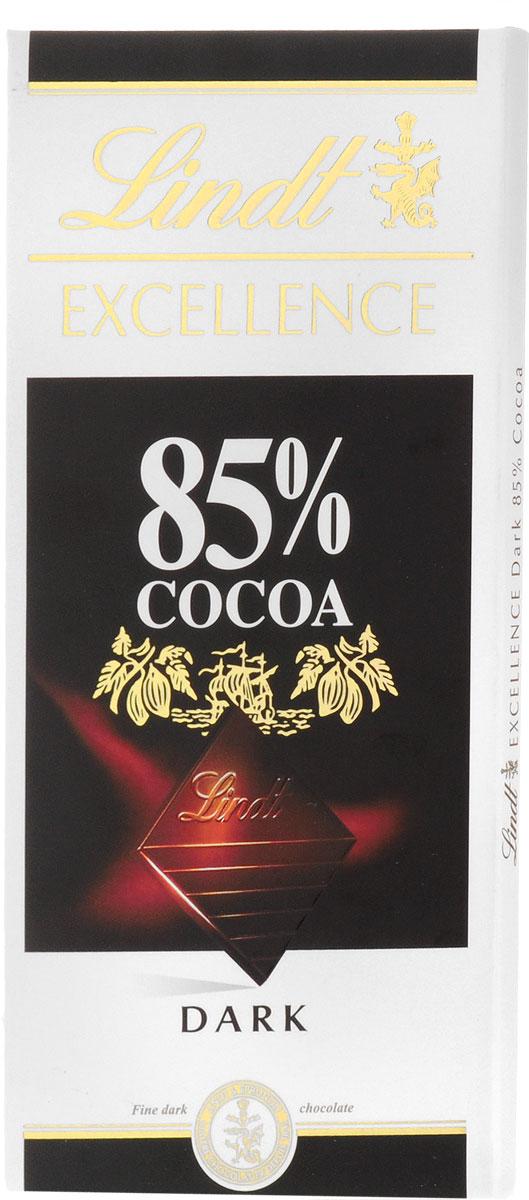 Lindt Excellence горький шоколад 85% какао, 100 г3046920028363Великолепный горький шоколад с сильным ароматом и насыщенным вкусом какао, идеально сбалансированным – не слишком горьким и в меру сладким. Шоколад отличает утонченный аромат сухих фруктов и лакрицы. Уважаемые клиенты! Обращаем ваше внимание, что полный перечень состава продукта представлен на дополнительном изображении.