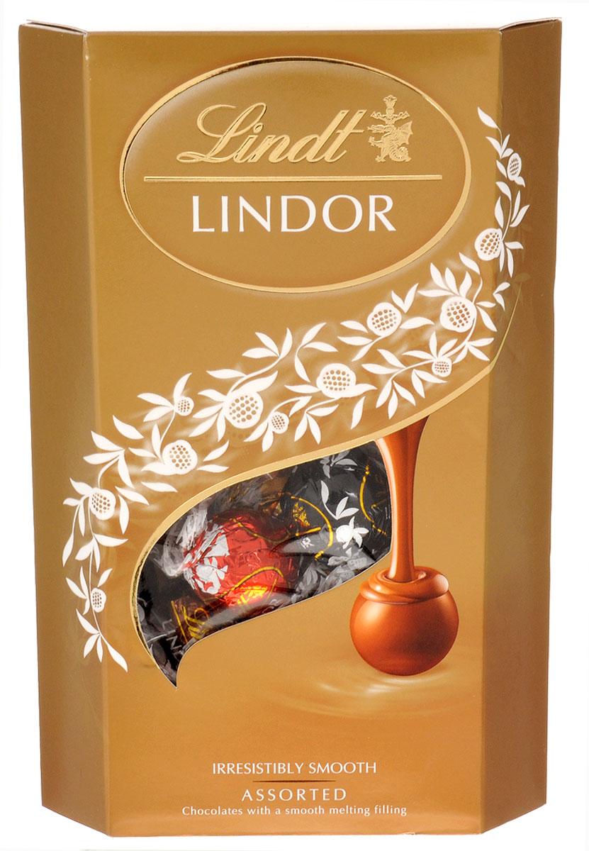 Lindt Lindor шоколадные конфеты ассорти, 337 г 8003340097015