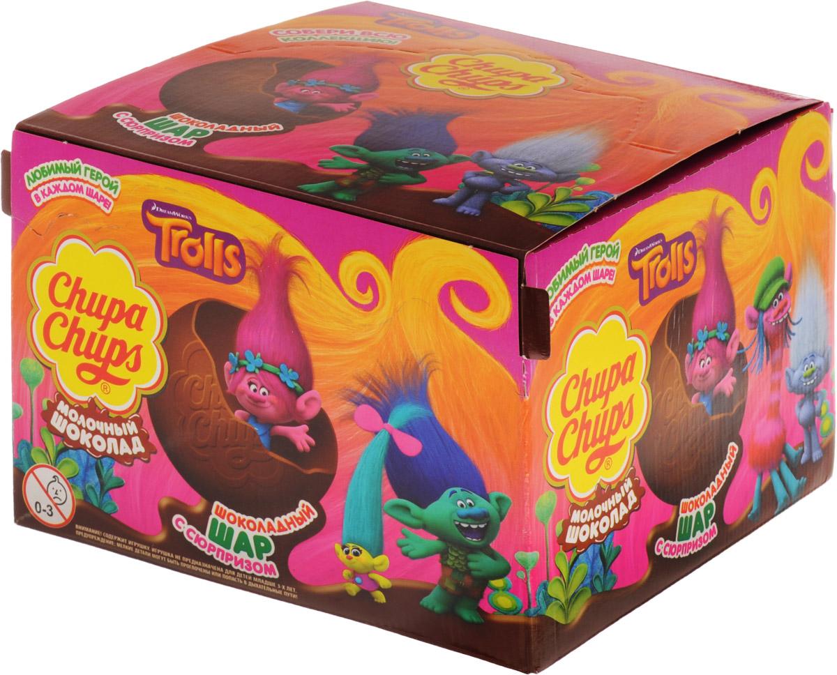Chupa Chups Тролли молочный шоколад, 18 штук по 20 г8253174Внутри каждого шоколадного шара Chupa Chups вы найдете новую игрушку, а снаружи - именно такой шоколад, как вы любите. Какая игрушка попадется вам в этот раз??? Соберите всю коллекцию и обменивайтесь с друзьями! Игрушка не предназначена для детей младше трех лет. Уважаемые клиенты! Обращаем ваше внимание, что полный перечень состава продукта представлен на дополнительном изображении.