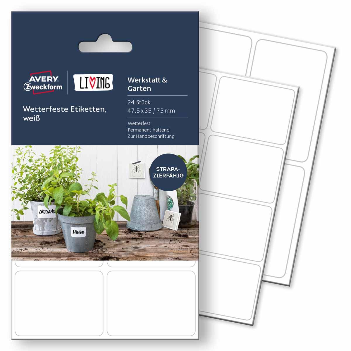 Avery Zweckform Этикетки для дома Living 47,5 х 35 мм цвет белый