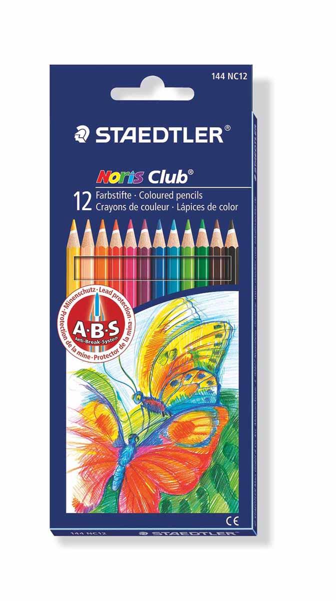 Staedtler Набор цветных карандашей Noris Club 12 цветов144NC12Набор цветных карандашей шестигранной формы для удобного и легкого письма, Staedtler. Содержит 12 цветов в ассортименте. Широкий выбор возможностей для рисования.
