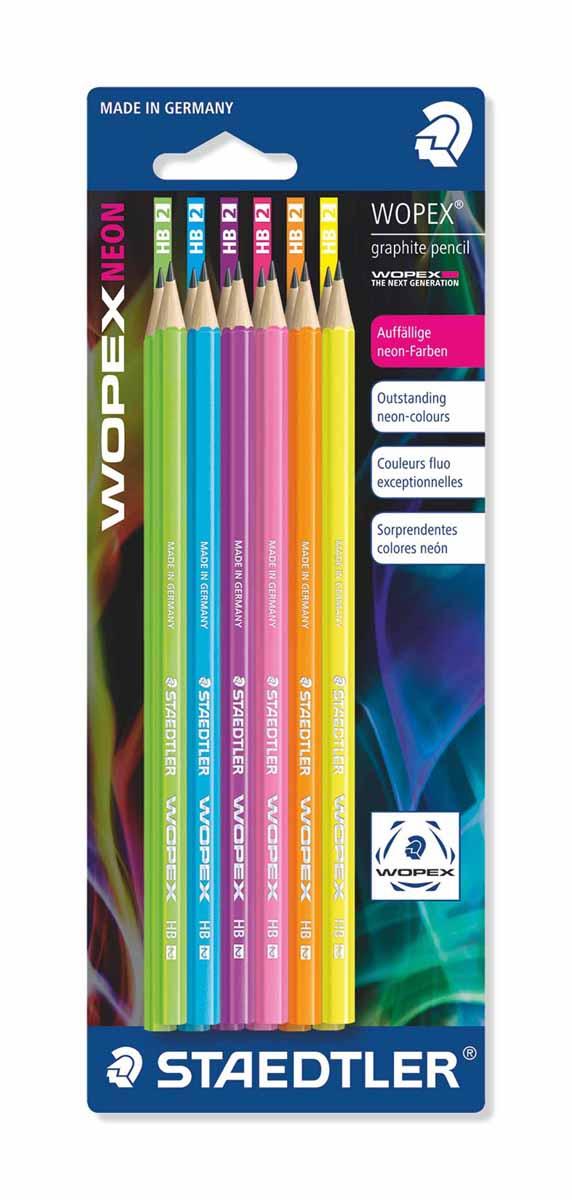 Staedtler Набор чернографитовых карандашей Wopex NEON HB 12 шт180FBK12Набор высококачественных чернографитовых карандашей WOPEX шестигранной формы, Staedtler. Содержит 12 шт. карандашей, цвет корпуса неоновый в ассортименте, НВ.