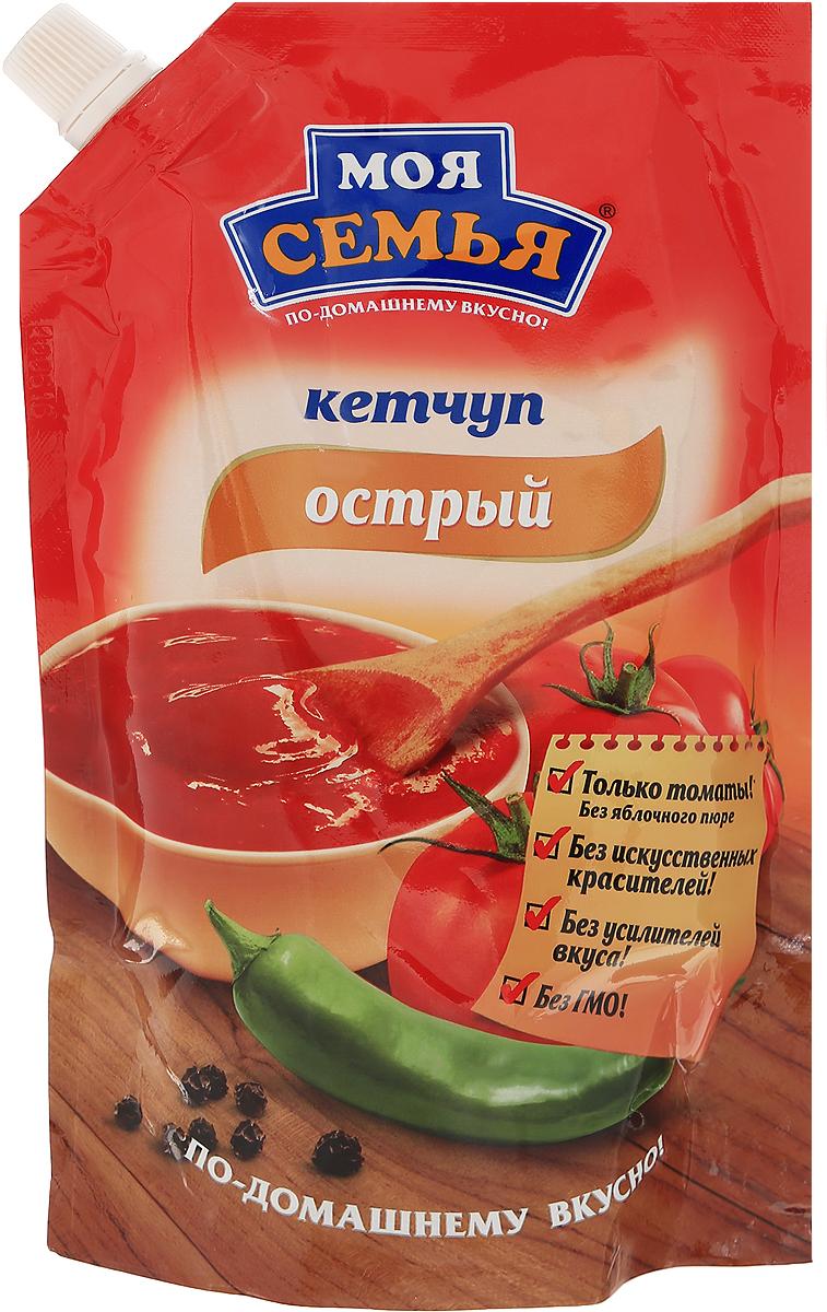 Моя семья кетчуп Острый, 330 г