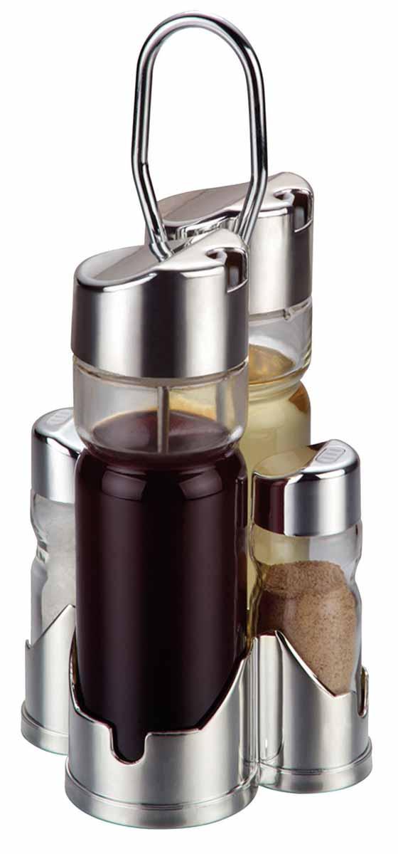 Набор для специй Bohmann. 7805BH7805BHНабор для специй 5 Предметов. 2 емкости для соусов. 2 емкости для соли и перца. 1 стальная подставка.