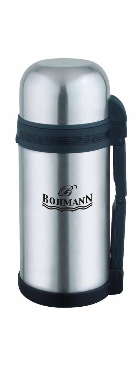 Термос Bohmann, широкое горло, 1,2 л. 4212BH/б/чехла4212BH/б/чехлаДорожный универсальный термос из нержавеющей стали для напитков и вторых блюд . Небьющийся. Изолированная крышка с чашкой внутри. Складывающаяся ручка и съемный ремень для легкого переноса. Идеально подходит для пищи и напитков. Объём 1,2 л.