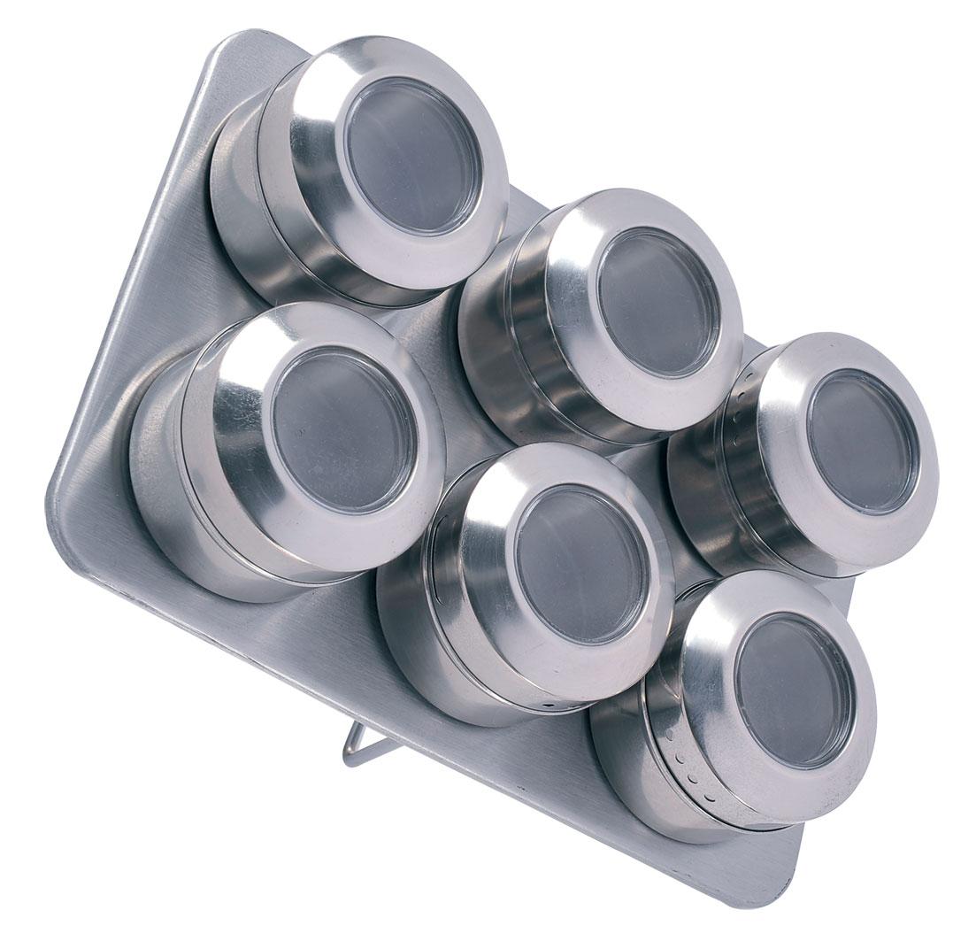 Набор для специй Bohmann, на магните, 7 предметов. 7817BH/NEW7817BH/NEWНабор для специй на подставке с МАГНИТОМ. 7 Предметов. 6 емкостей для соли и перца, 1 металлический стенд-подставка. Материал - Нержавеющая сталь.