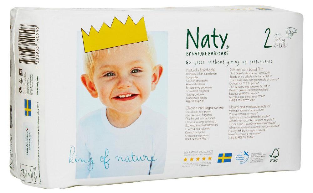 Naty Фито-подгузники размер 2 3-6 кг 34 шт7330933140546Компания Naty основана в Швеции матерью двух мальчиков Марлен Сандберг. В результате для малышей и их мам была создана новая, экологически чистая продукция из натурального воспроизводимого сырья, отвечающая высоким запросам потребителей по качеству, эффективности и дизайну. Компания представляет широкий ассортимент товаров личной гигиены из натуральных материалов для детей и женщин, а также детский текстиль. Вся продукция шведской компании Naty изготовлена из натуральных органических материалов, не содержит никаких вредных химических компонентов. Материалы, которые используются для производства, проходят все необходимые тесты на аллергические реакции. Продукция Naty - это выбор ответственных родителей, заботящихся о здоровье своих детей и окружающей природе. Вместо нефтепродуктов для производства подгузников и трусиков Naty используется материал на основе кукурузного крахмала (без ГМО). Подгузник состоит из наполнителя на основе целлюлозы, отбеленной без применения...