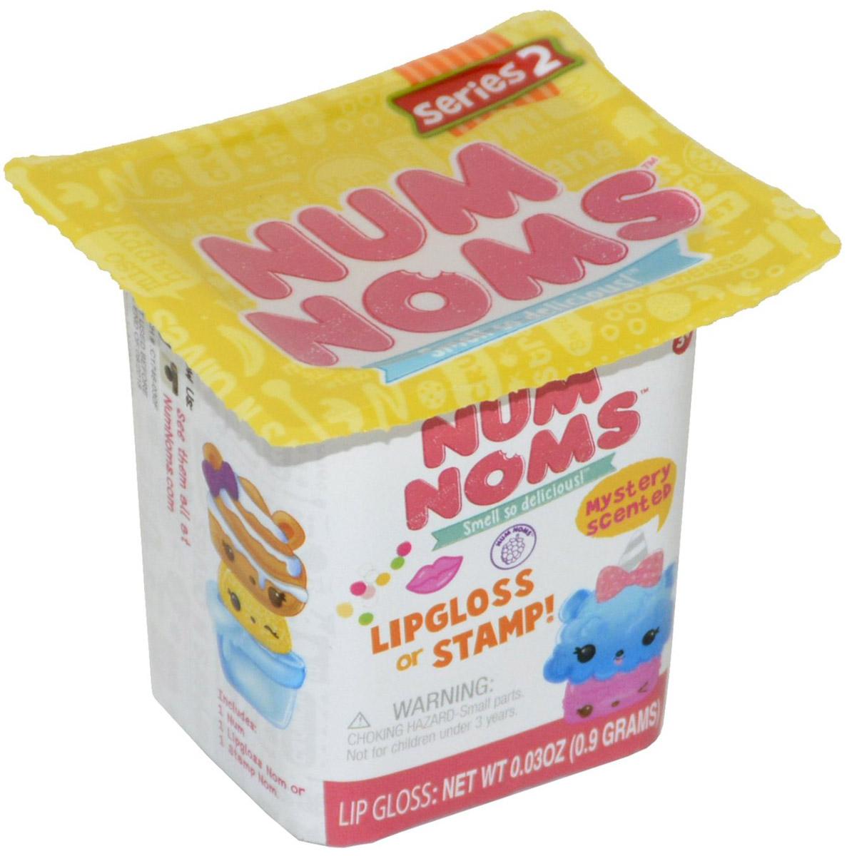 """Num Noms Набор фигурок, 2 шт542032Секретные фигурки с ароматным блеском для губ или штампом В комплекте 1 """"шапочка"""" Num, 1 основа с блеском для губ или штампом Nom, плакат со всеми персонажами"""
