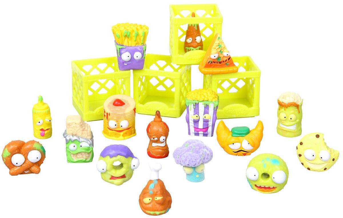 Grossery Gang Игровой набор Для завтрака69079Для настоящих коллекционеров! 1 x Коробка из под хлопьев 6 x эксклюзивных фигурок 10 x обычных фигурок 4 x ящика 1 x листовка