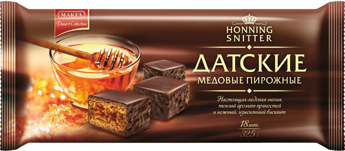 Makfa Dessert Collection пирожное Медовый бисквит, 325 г70486