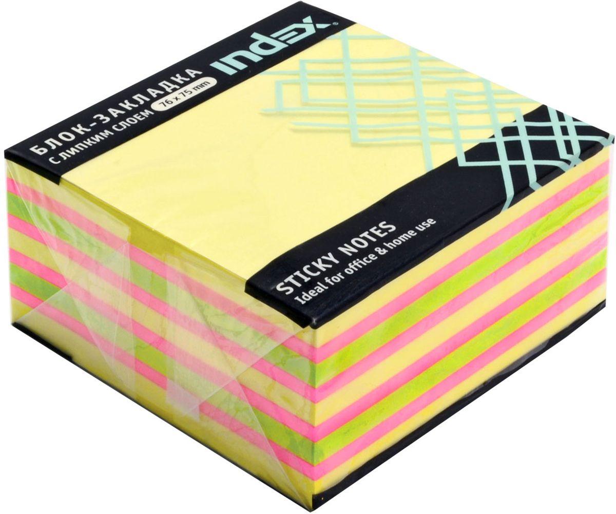 Index Бумага для заметок с липким слоем цвет желтый 400 листов I433811