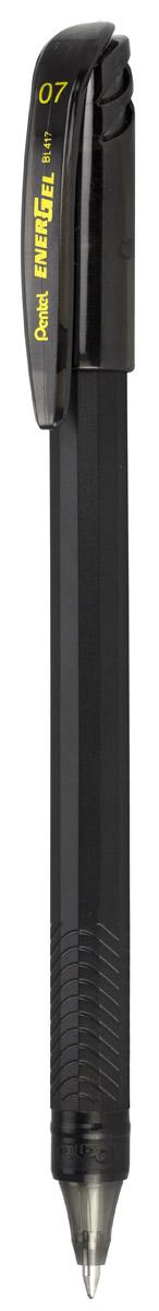 Pentel Гелевая ручка Energel цвет чернил черныйPBL417-AГелевая ручка Pentel Energel имеет матовый пластиковый корпус с рифленой зоной захвата. Цвет колпачка и пишущего узла выполнены в цвет чернил ручки. Чернила гарантируют моментальное высыхание надписи на бумаге.
