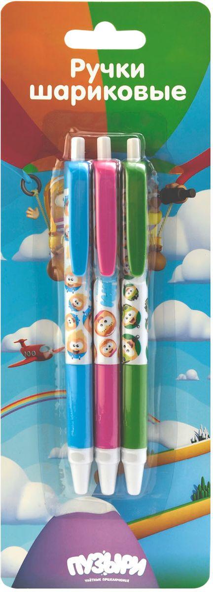 Action! Набор шариковых ручек Пузыри цвет синий 3 штBU-ABP152/3Пластиковый корпус. Синие чернила. Диаметр шарика - 0,5 мм. 3 штуки в блистере с европодвесом.