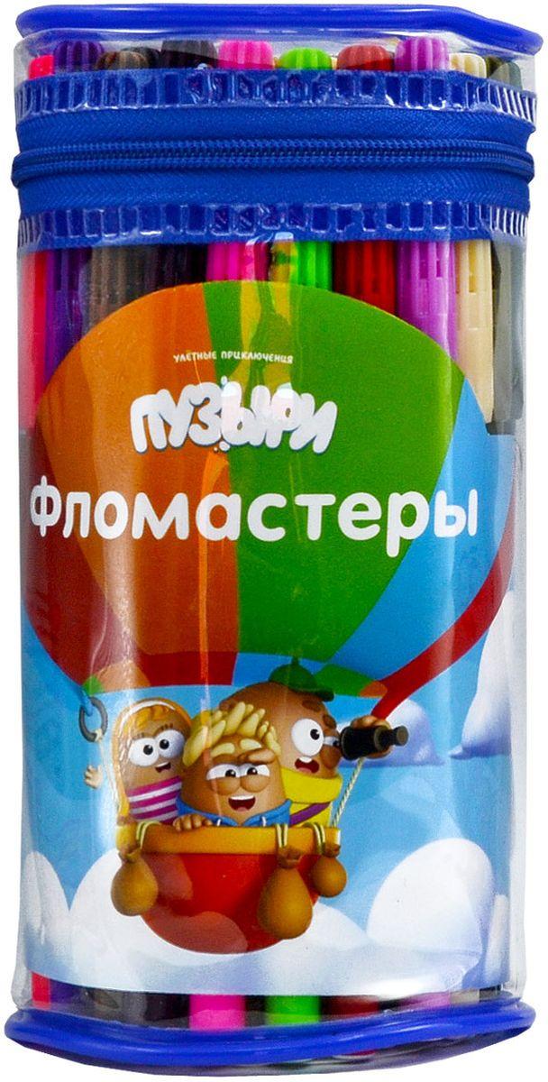 Action! Набор фломастеров Пузыри 50 цветовBU-AWP205-50Набор фломастеров Action!ПУЗЫРИ цв. вентил. колпачки, 50 цв., п/п ведро с ручкой.