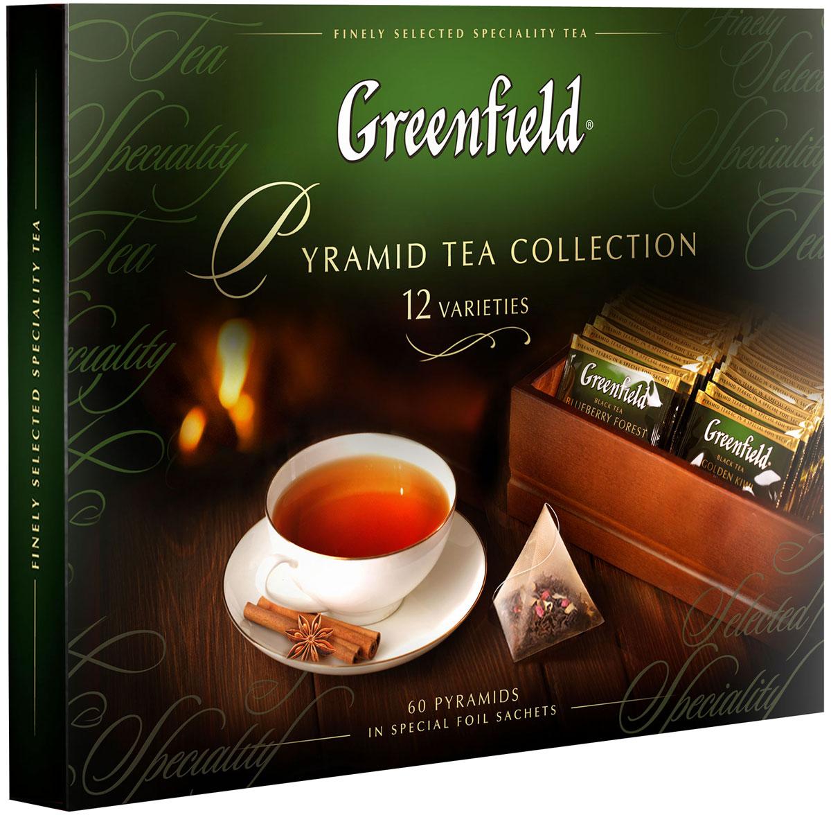 Greenfield Набор листового чая и чайного напитка в пакетиках-пирамидках, 12 видов 1241-07