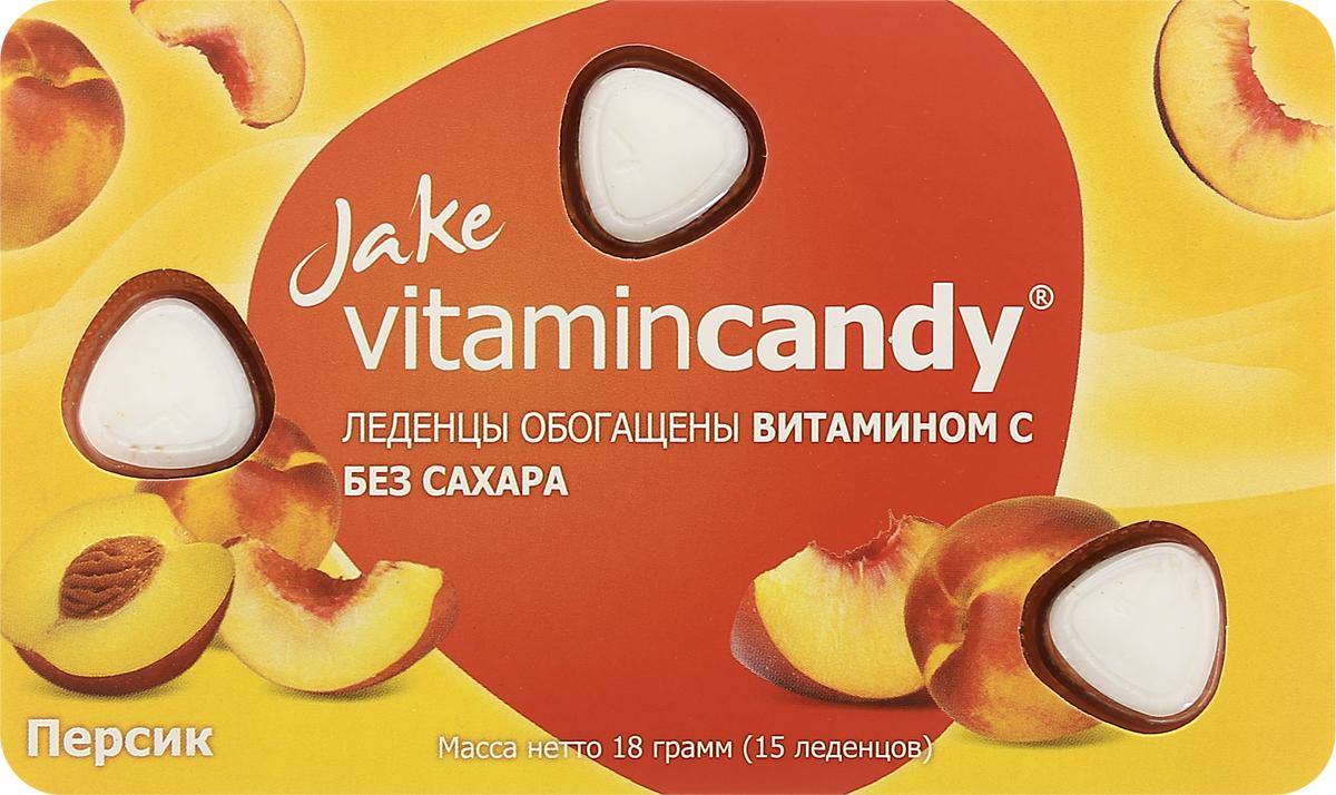 Jake Vitamin C леденцы со вкусом персика, 18 г602Ароматный вкус сочного персика в союзе с эффективным природным антиоксидантом - витамином С, помогают защитить иммунитет и дарят хорошее настроение в ненастное и богатое на заболевания межсезонье. Уважаемые клиенты! Обращаем ваше внимание, что полный перечень состава продукта представлен на дополнительном изображении.