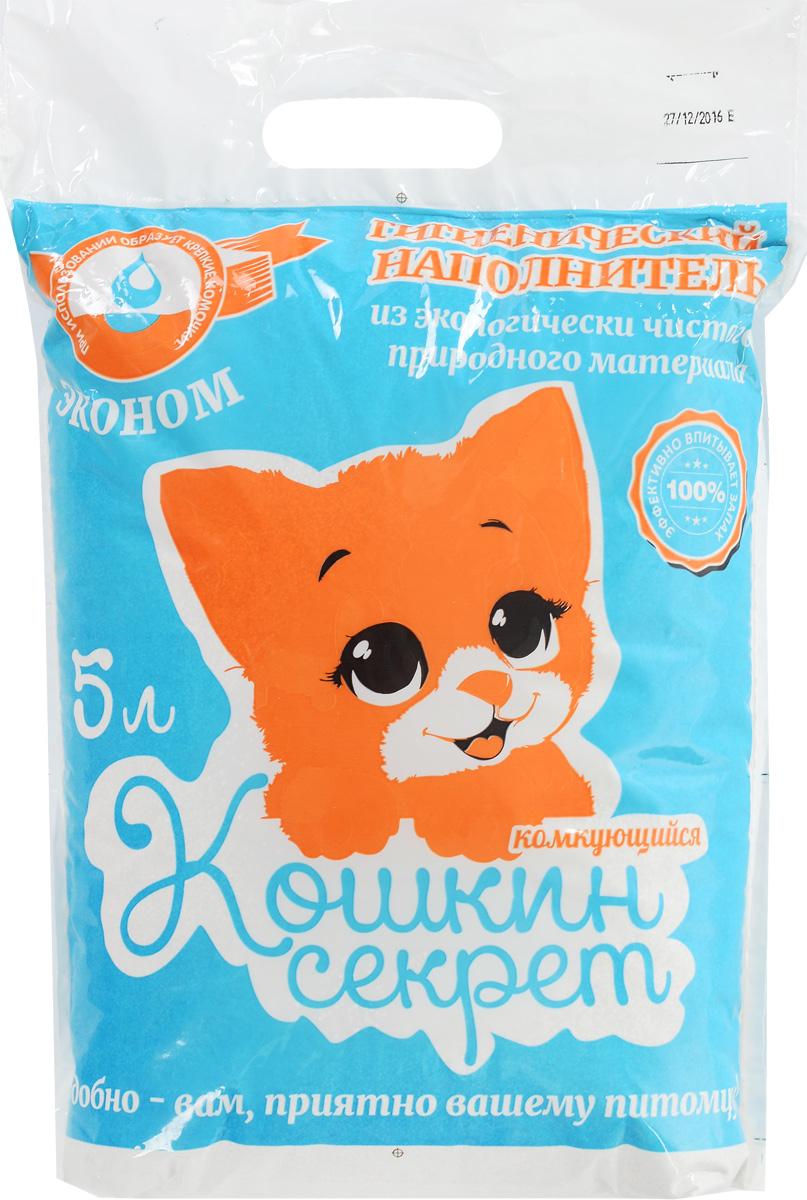 """Наполнитель для кошачьего туалетоа Кошкин секрет """"Эконом"""", комкующийся, 5 л 00000008328"""