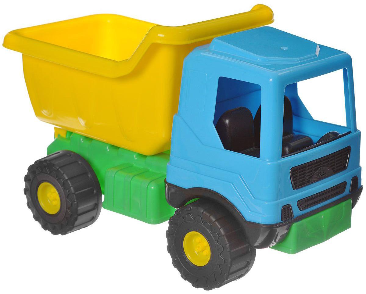 AVC Грузовик цвет желтый зеленый голубой01/5163Игрушка AVC Грузовик отлично подойдет ребенку для различных игр. Эта простая игрушка предназначена для самых маленьких - в конструкции отсутствуют острые элементы, способные травмировать малыша. Вместительный кузов машинки поднимается и опускается. В кабину без стекол можно посадить одну или несколько игрушек. Большие пластиковые колеса с крупным протектором обеспечивают машинке устойчивость и хорошую проходимость. Игрушка является оптимальным вариантом для перевозки различных грузов (камушки, палочки и т.д.). Грузовик выполнен из прочного пластика, который позволяет выдерживать большие нагрузки. Ваш юный строитель сможет прекрасно провести время дома или на улице, подвозя к месту игрушечной стройки необходимые предметы на этом ярком грузовике.