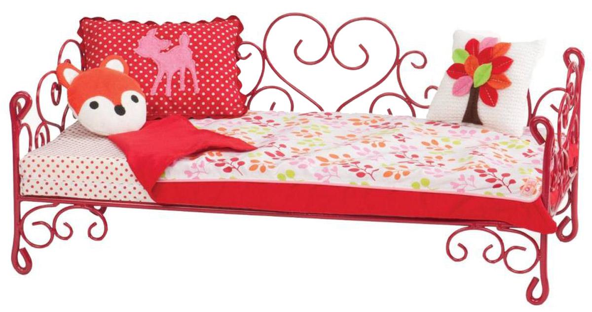 Our Generation Кровать для кукол цвет красный11516_красныйЗамечательная кровать для кукол Our Generation подходит для кукол ростом 46 см, она обязательно понравится вашей малышке. Куклы тоже устают, им тоже нужно ежедневно спать и отдыхать. Именно поэтому каждая из них нуждается в собственной уютной кроватке. В набор входят металлическая кровать, матрац, покрывало и несколько подушек. Кукла в комплект не входит! Порадуйте свою дочурку таким замечательным подарком!