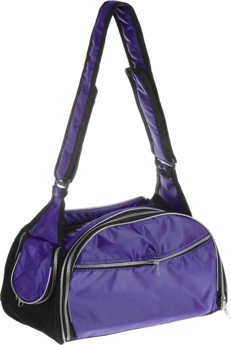 Сумка-переноска для животных Elite Valley, с отверстием для головы, цвет: темно-фиолетовый, черный, 40 х 24 х 25 смС-48_темно-фиолетовыйТекстильная сумка Elite Valley предназначена для собак мелких пород и кошек. Изделие закрывается на застежку- молнию. Для удобной переноски предусмотрена удобная ручка. С внешней стороны имеется два кармана на молнии. Также сумка оснащена отверстием для головы животного, закрывающимся на молнию. Сумка-переноска Elite Valley обязательно понравится вашему домашнему любимцу.