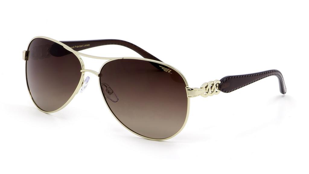 Очки женские поляризационные Legna, цвет: золотой, коричневый. S4406BS4406BСолнцезащитные очки LEGNA с поляризационными линзами превосходно предохраняют глаза от любого рода вредных бликов и УФ-лучей, что делает вождение безопасным и комфортным. Также очки LEGNA ничем не уступают самым известным маркам и брендам в эстетической части. Благодаря линзам премиум класса очки LEGNA прекрасно подходят для повседневной носки, занятий спортом, отдыха и конечно для использования за рулем.