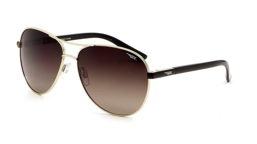 Очки поляризационные женские Legna, цвет: золоой, коричневый. S4508CS4508CСолнцезащитные очки Legna с поляризационными линзами превосходно предохраняют глаза от любого рода вредных бликов и УФ-лучей, что делает вождение безопасным и комфортным. Также очки Legna ничем не уступают самым известным маркам и брендам в эстетической части. Благодаря линзам премиум класса очки Legna прекрасно подходят для повседневной носки, занятий спортом, отдыха и конечно для использования за рулем.