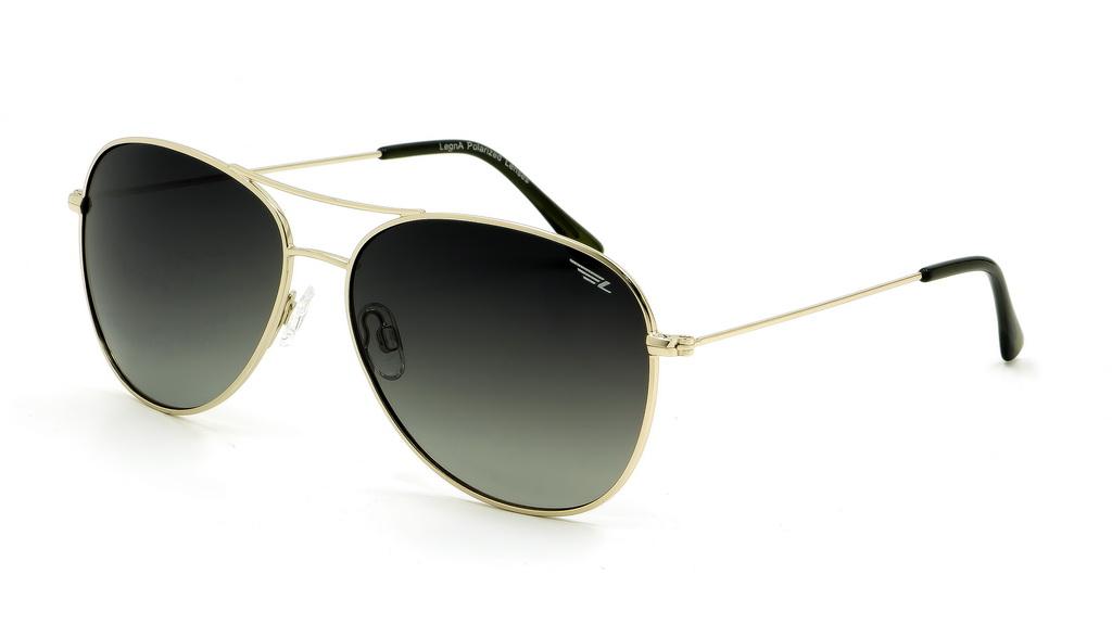 Очки женские поляризационные Legna, цвет: золотой, зеленый. S4601AS4601AСолнцезащитные очки LEGNA с поляризационными линзами превосходно предохраняют глаза от любого рода вредных бликов и УФ-лучей, что делает вождение безопасным и комфортным. Также очки LEGNA ничем не уступают самым известным маркам и брендам в эстетической части. Благодаря линзам премиум класса очки LEGNA прекрасно подходят для повседневной носки, занятий спортом, отдыха и конечно для использования за рулем.
