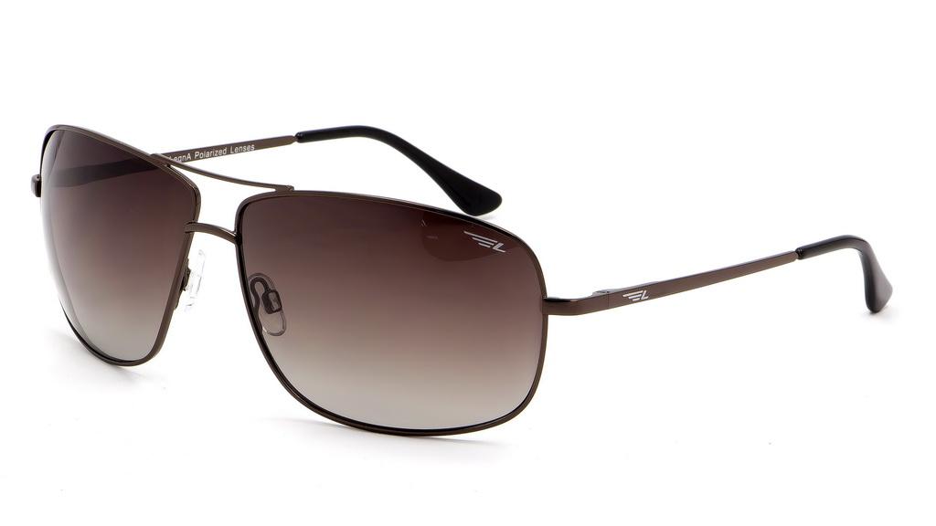 Очки поляризационные мужские Legna, цвет: коричневый. S4602BS4602BСолнцезащитные очки Legna с поляризационными линзами превосходно предохраняют глаза от любого рода вредных бликов и УФ-лучей, что делает вождение безопасным и комфортным. Также очки Legna ничем не уступают самым известным маркам и брендам в эстетической части. Благодаря линзам премиум класса очки Legna прекрасно подходят для повседневной носки, занятий спортом, отдыха и конечно для использования за рулем.
