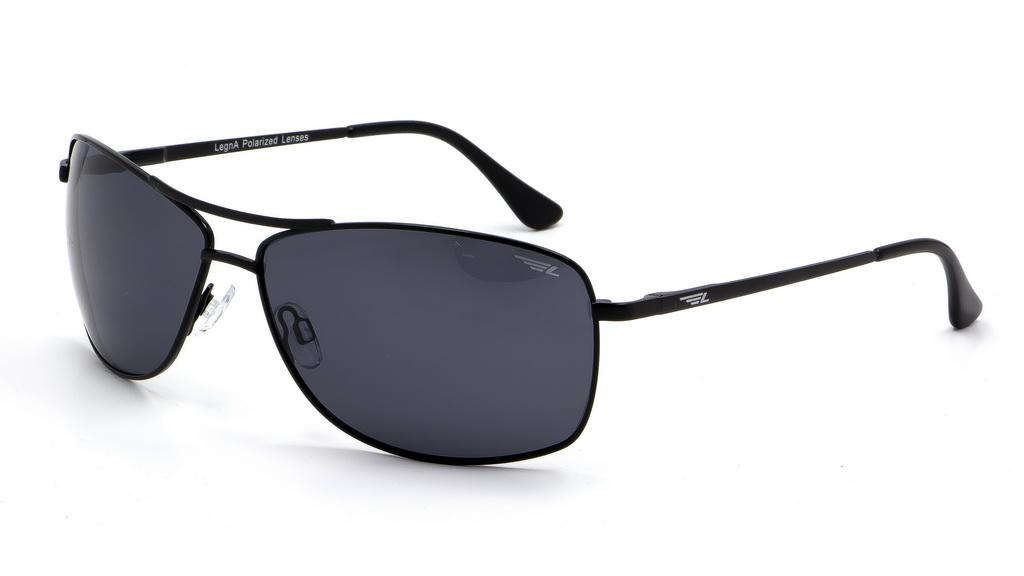 Очки поляризационные мужские Legna, цвет: черный, серый. S4603AS4603AСолнцезащитные очки Legna с поляризационными линзами превосходно предохраняют глаза от любого рода вредных бликов и УФ-лучей, что делает вождение безопасным и комфортным. Также очки Legna ничем не уступают самым известным маркам и брендам в эстетической части. Благодаря линзам премиум класса очки Legna прекрасно подходят для повседневной носки, занятий спортом, отдыха и конечно для использования за рулем.